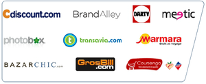 Sites utilisant PAYPAL (source PAYPAL) CDISCOUNT, BrandAlley, DARTY, meetic, etc.