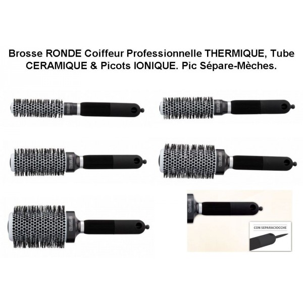 brosse ronde thermique c ramique ionique belle beau paris. Black Bedroom Furniture Sets. Home Design Ideas